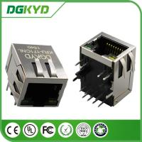 Custom 10/100base - T rj45 modular connector with Transformer 1 x 1 Tab Down