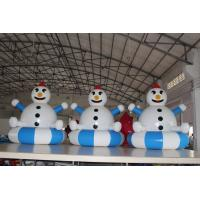 China Airtight PVC Customized Inflatable Snowman Decorations Easy To Clean on sale