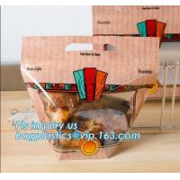 China High Quality Rotisserie Chicken Plastic packaging bag Grilled Chicken Bag microwave grilled hot chicken bag Stand Up Roa on sale