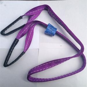 China polyester endless webbing sling,eye and eye flat lifting sling china manufacture on sale