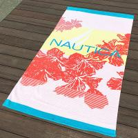 Buy cheap Hula Flower Printed Beach Towels , Rose Red Color Bath Towel Sheets product