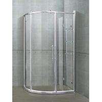 Best 6/ 8 mm Sector Shower Stalls Bright Silver Aliminum Alloy Frames With Shower Shelf wholesale