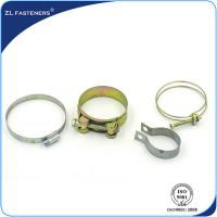 Best Galvanized Stainless Steel Hose Clamps Bright Zinc / Yellow Zinc Coated wholesale