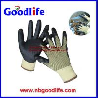 China Foam nitrile cut resistant gloves with UMW PE Fiber shell on sale