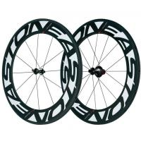 Best 700C Carbon Fiber Bike Wheels Customized Logo 88mm With 125kg Max Rider Weight wholesale