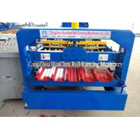 China Trapezoid Roofing Sheet Roll Forming Machine 12 month warranty on sale