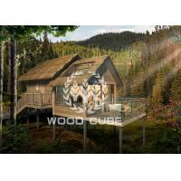 Best Steel Structure Prefab Wooden House , Lovely Prefabricated Tree House For Hotel wholesale