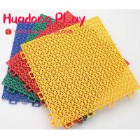 China Block Carpet Playground Floor Mats ,  Interlock Playground Safety Mats PP Suspended on sale