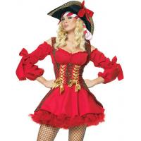 Best Halloween Christmas Sexy Costumes Wholesale Sexy Buccaneer costume in red color XS-XXXXL wholesale