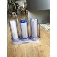 China Clear Housing Alkaline Ro Water Filter Triple Filtration Countertop PP Activated Carbon Ceramic on sale
