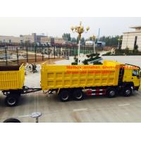 China 3axles 50-60T load capacity 12wheels dump trailer with 2Jost legs on sale