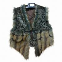 Best Vest, made of plush/faux fur, 2 various materials matching, fur ball tie, OEM/ODM orders are welcome wholesale