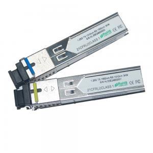 Best Single Fiber 1.25G 10km E1MG-BXD BIDI SFP Transceivers For Digital video / CCTV wholesale