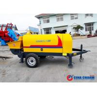 Best S Valve 10Mpa 20m3 / H Trailer Mounted Concrete Pump With Electric Motor wholesale