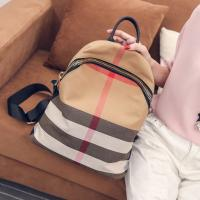 China Women Leisure Backpack Style Plaid CanvasBackpack Mommy Bag School Feng Bag on sale