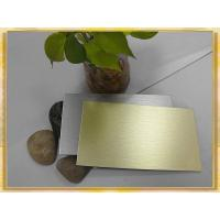 Best golden/ silver brush finished aluminum composite panel wholesale