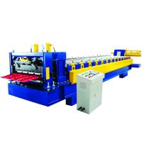 Best 0.5-0.8mm Metal Glazed Roof Tile Making Machine , Roof Tile Roll Forming Machine wholesale