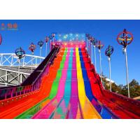 Best Funny And Exciting High Speed Slide ,  Fiberglass Water Slide Customized Color wholesale