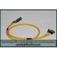 Buy cheap MTP MPO Multiple Fibers OS2 Singlemode Breakout Patch Cable Yellow Jacket product