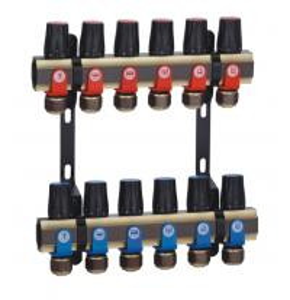 China ISO Water Underfloor Heating Manifold PN10 Underfloor Heating Products on sale