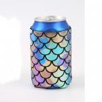 Best Neoprene Beer Bottle Cooler Bag , Customized Logo Printed Beer Bottle Covers wholesale