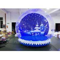 Best OEM Airblown Inflatable Snow Globe With Background Durable Serurity - Guarantee wholesale