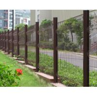 Details of garden fence made from galvanized welded wire