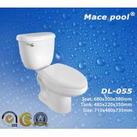 Best Sanitary Ware Ceramic Two Piece Toilets with Siphonic S-Trap (DL-055) wholesale