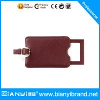 Best 2015 cheapest promotion item leather luggage tags with customer customize logos & various wholesale