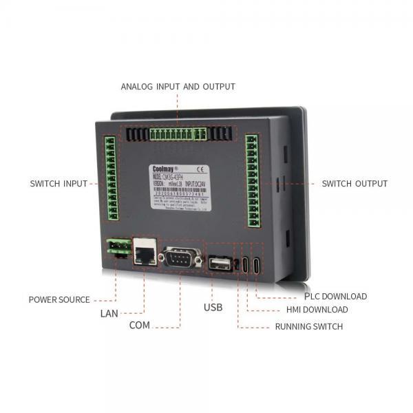 Cheap Customized PWM HMI PLC Combo Passive NPN 8 Channels PLC Touch Panel for sale