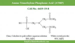 Best Water treatment agent CAS No.  6419-19-8 N(CH2PO3H2)3  Amino Trimethylene Phosphonic Acid ATMP wholesale