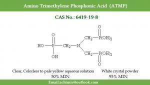 Best Water treatment agent CAS No. 6419-19-8 N(CH2PO3H2)3 Amino Trimethylene Phosphonic Acid ATMP wholesale