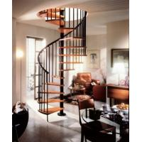 Best Aluminum Custom Spiral Staircases With Solid Wood Steps wholesale