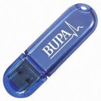 China USB Memory Sticks/Plastic USB Sticks, Customized Specifications Welcomed, Various Capacities on sale