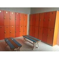 Best PVC Material Double Tier Lockers , Orange Small Employee Lockers For Factory wholesale