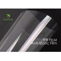 China Anti Static PET Film For Heat Transfer Print / Silicone Coated Low Surface Resistivity on sale