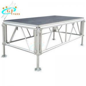 Best 1.22*2.44m Mobile Aluminum Stage Platform Black Red Color wholesale