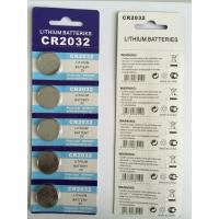 China 3V Lithium button cell LiMnO2 CR2032 battery on sale