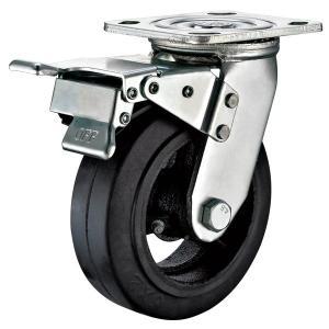 China 5X2 Heavy Duty Locking Casters , Swivel Rubber Caster Wheels Heavy Duty on sale