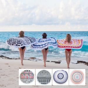 China beach towel Type and Woven Technics Indian Round Beach Towel Mandala Round Beach Towels on sale
