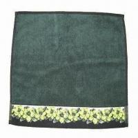 China Square Towel with Jacquard Border, Comes in in Black on sale