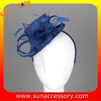 Best 0914 fashion navy  sinamay fascinators caps for ladies  ,Fancy Sinamay fascinator  from Sun Accessory wholesale