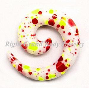 Best Custom Spiral Ear Tapers / White Ear Stretchers For Girls wholesale