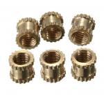 Best Brass Knurl Nuts M3 4mm L-4mm OD Metric Threaded Nuts Insert Round Shape wholesale