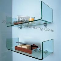 China 10MM clear one-piece tempered glass  shelf on sale