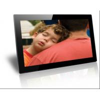 Best Plastic Case Black / White Electronic Picture Frame Wireless Wall Mounting 18.5 Inch wholesale