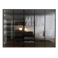 Best Italian Style Glass Door Small Wardrobe With Drawers , Modern Freestanding Wardrobe Closet wholesale