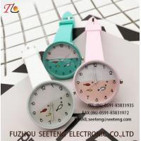 China custom logo silicone plastic watch with all normal color available fashional watch  Multicolor strap Cute watch on sale
