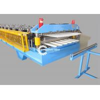 China Color Steel Profile Glazed Roof Tile Roll Forming Machine For Zinc Sheet on sale
