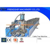 Best 6 Tons Manual Cable Tray Roll Forming Machine 22 KW With 24 Forming Stations wholesale